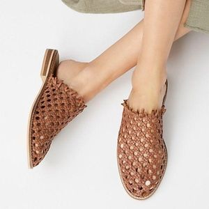 free people mirage woven flats 40 new in box